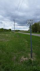 Maywood Cemetery (Elizabeth Almlie) Tags: minnesota bentoncounty maywood maywoodcemetery cemetery road sign