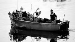 Mor Breiz - Saint Pabu (patrick_milan) Tags: fishing boat ship man portrait reflection reflet saint pabu eau water aber finistere bretagne