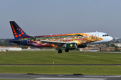 OO-SNF Airbus A320-214 EBBR 14-05-19 (MarkP51) Tags: oosnf airbus a320214 a320 brusselsairlines sn bel special tomorrowland colours brussels zaventem airport bru ebbr belgium airliner aircraft airplane planr image markp51 nikon d500 nikonafp70300fx sunshine sunny