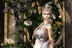 Mother of Dragons (LiangScorpio) Tags: queen daenerys secondlife sl dragon dragons targaryen gameofthrones drogon rhaegal viserion junbug