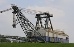 Walking Dragline - St Aidan's Great Preston West Yorks - 300419 (2) (Ann Collier Wildlife & General Photographer) Tags: staidansrspbreserve royalsocietyfortheprotectionofbirds naturalhistory naturereserves walkingdragline opencastcoalmining coalminingequipment machinery westyorkshire birds oddball