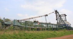 Walking Dragline - St Aidan's Great Preston West Yorks - 300419 (3) (Ann Collier Wildlife & General Photographer) Tags: staidansrspbreserve royalsocietyfortheprotectionofbirds naturalhistory naturereserves walkingdragline opencastcoalmining coalminingequipment machinery westyorkshire birds oddball