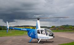 G-GOES R44, Scone (wwshack) Tags: egpt helicopter psl perth perthkinross perthairport perthshire powerline r44 robinson scone sconeairport scotland survey ggoes