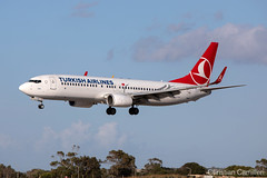 Turkish Airlines Boeing 737-8F2 'TC-JGI' LMML - 13.05.2019 (Chris_Camille) Tags: canon canon5d aviation avgeek mla lmml airport takeoff fly sky plane aircraft airplane maltairport spotting planespotting registrations spottinglog turkish airlines boeing 7378f2 tcjgi 13052019