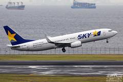 Skymark Airlines [BC][SKY] / JA73NE / 737-82Y / RJTT (starger64) Tags: canoneos5dmarkiv ef1004004556lisii eftc14xiii rjtt hnd hanedaairport 羽田機場 東京国際空港 ja73ne skymarkairlines 天馬航空 bc713 boeing73782y boeing 737 738 737800 aviation aircraft airplane arlines lcc