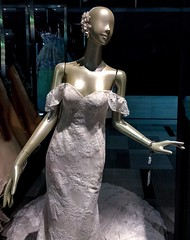 Female like mannequin /w pearl like color and luster wearing wedding dress (DigiPub) Tags: 1151526944 gettyimages yokohama japan wedding bridal lifesize pearlluster