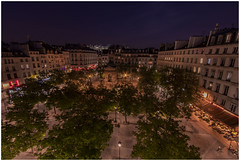Fontaine des Innocents. Paris (babell4321) Tags: beverleybell 2019 paris france studio view people nightphotography longexposure trees restaurants skyline architecture square buildings recent explore nightsky