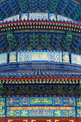 The Temple of Heaven, Beijing, China (Miche & Jon Rousell) Tags: china beijing templeofheaven qinianhall temple beams blue green gold phoenix