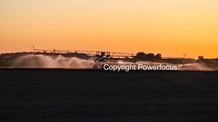 Rainmaker (powerfocusfotografie) Tags: water irrigation agriculture backlight silhouette dusk action running sun sunset evening outdoors landscape groningen holland henk nikond90 powerfocusfotografie