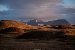 Late Iceland evening (bernd obervossbeck) Tags: iceland island landschaft landschaftsfotografie landscape landscapephotography berg mountain hügel hill weideland pasture abend abendlicht abendstimmung eveninglight evening eveningmood hütte hut cabin ²warme farbenwarm coloursfuji xt1xf1855mmf284 r lm oisbernd obervossbeck