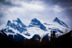 Three Sisters (ellieupson) Tags: canmore canada alberta nationalpark banff snow mountain sky landscape trees travel