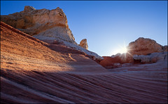 Trip to Mars (jeanny mueller) Tags: usa southwest arizona coyotebuttes whitepocket vermillioncliffs sunset landscape rock swirl paria page