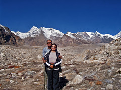 The bond !! (Lopamudra !) Tags: lopamudra lopamudrabarman lopa landscape potrait together bond love partner kamet basecamp garhwal uttaranchal uttarakhand uttarkhand india peak peace peaks range glacier glacial moraine mountain mountains mount trek trekking hiking climb boulder himalaya himalayas highaltitude highland vista beauty beautiful relationship picturesque selfportrait remembrance memory vasundhara