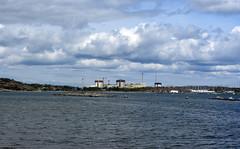 nuclear plant (helena.e) Tags: helenae husbil rv motorhome älsa bua nuclearplant kärnkraftverk ringhals water vatten himmel sky moln cloud