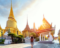 Asian lady walking and travel in Wat Phra Kaew (anekphoto) Tags: bangkok thailand wat temple palace travel phra grand asia asian buddha kaew tourism architecture ancient tourist traditional thai religion famous culture emerald landmark city history place nature woman view art beautiful old building young royal vacation buddhism holiday buddhist scenic people happy summer decoration style landscape traveler lady pagoda golden
