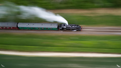 41312 Steam Train (soaringviews) Tags: watercressline midhantsrailway steam steamtrain speed longexposure dji phanton djiphantom4 p4p phantom4pro ndfilters train railway track 41312
