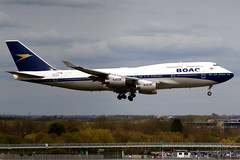 British Airways | Boeing 747-400 | G-BYGC | BOAC retro livery | London Heathrow (Dennis HKG) Tags: aircraft airplane airport plane planespotting oneworld canon 7d 100400 london heathrow egll lhr britishairways ba baw speedbird boac boeing 747 747400 boeing747 boeing747400 gbygc