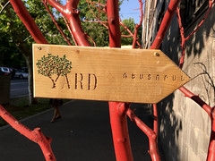 Yard (cowyeow) Tags: carved store shop wood tree yerevan armenia caucuses sign street city easterneurope
