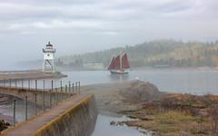 Come Sail Away . . . (doc030395) Tags: lakesuperior northshore grandmarais hjordis sailing harbor misty fog minnesota morning