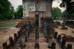 Aerial view of Wat Sri Chum temple (MongkolChuewong) Tags: aerial aerialview ancient archeology architecture art asia asian beautiful buddha buddhism buddhist building chum city culture drone heritage historic historical history landmark mahathat old outdoor pagoda park religion ruins scenic sculpture site sri statue sukhothai sunset temple thai thailand top tourism tourist town traditional travel unesco view wat world worship mueangsukhothai
