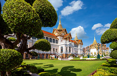 Royal grand palace (anekphoto) Tags: palace bangkok grand thailand royal architecture traditional ancient asia thai wat decoration travel tourism culture structure history religion buddha temple place buddhism monastery siamese art lady walk woman asian old blue building gold luxury ornate golden tourist famous emerald east religious heritage majestic buddhist hall throne maha chakkri prasat kaew