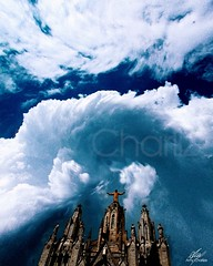 Storm in the sky (Amy Charlize) Tags: amycharlize focosocial awesome beautiful beauty barcelona clouds daily landscape sky nature visual shapes church