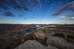 Overlooking Lake Powell (CraDorPhoto) Tags: canon5dsr landscape water lake sky blue clouds nature outdoors outside valley mountains usa alstrompoint utah