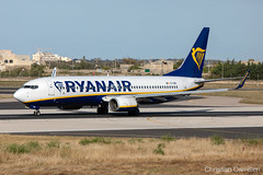 Ryanair Boeing 737-8AS 'EI-EBK' LMML - 14.05.2019 (Chris_Camille) Tags: runway pilot pilotstories aviation avgeek a320 canon canonphotography canonaviation withcanonyoucan red clouds airline maltese islands canon5d aviationgeek mla airport takeoff fly sky plane aircraft airplane maltairport spotting planespotting registrations spottinglog