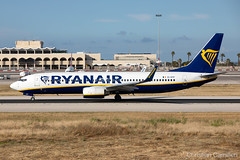 Ryanair Boeing 737-8AS 'EI-DYF' LMML - 14.05.2019 (Chris_Camille) Tags: runway pilot pilotstories aviation avgeek a320 canon canonphotography canonaviation withcanonyoucan red clouds airline maltese islands canon5d aviationgeek mla airport takeoff fly sky plane aircraft airplane maltairport spotting planespotting registrations spottinglog