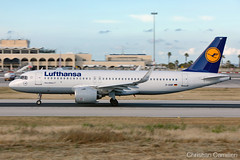 Lufthansa Airbus A320-271N 'D-AINF' LMML - 14.05.2019 (Chris_Camille) Tags: runway pilot pilotstories aviation avgeek a320 canon canonphotography canonaviation withcanonyoucan red clouds airline maltese islands canon5d aviationgeek mla airport takeoff fly sky plane aircraft airplane maltairport spotting planespotting registrations spottinglog