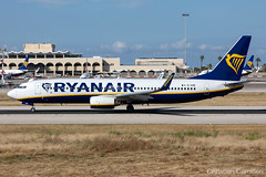 Ryanair Boeing 737-8AS 'EI-EME' LMML - 14.05.2019 (Chris_Camille) Tags: runway pilot pilotstories aviation avgeek a320 canon canonphotography canonaviation withcanonyoucan red clouds airline maltese islands canon5d aviationgeek mla airport takeoff fly sky plane aircraft airplane maltairport spotting planespotting registrations spottinglog