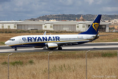 Ryanair Boeing 737-8AS 'EI-DWB' LMML - 14.05.2019 (Chris_Camille) Tags: runway pilot pilotstories aviation avgeek a320 canon canonphotography canonaviation withcanonyoucan red clouds airline maltese islands canon5d aviationgeek mla airport takeoff fly sky plane aircraft airplane maltairport spotting planespotting registrations spottinglog