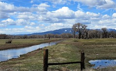Water of Life (Patricia Henschen) Tags: alamosa colorado mountain mountains ranch rural roadside stanleyroad water canal irrigation sanjuan cloud clouds