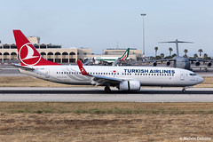 Turkish Airlines Boeing 737-8F2  |  TC-JVR  |  LMML (Melvin Debono) Tags: turkish airlines boeing 7378f2 | tcjvr lmml cn 60030 melvin debono spotting canon eos 5d mark iv 100400mm plane planes photography airport airplane aviation aircraft mla malta