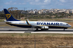 Ryanair Boeing 737-8AS 'EI-DWX' LMML - 16.05.2019 (Chris_Camille) Tags: runway pilot pilotstories aviation avgeek canon canonphotography canonaviation withcanonyoucan clouds airline maltese islands canon5d aviationgeek mla airport takeoff fly sky plane aircraft airplane maltairport spotting planespotting registrations spottinglog people photoadd ryanair lowcost boeing 737 7378as