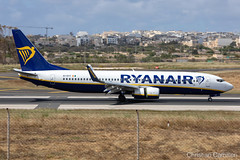 Ryanair Boeing 737-8AS 'EI-DYY' LMML - 16.05.2019 (Chris_Camille) Tags: runway pilot pilotstories aviation avgeek canon canonphotography canonaviation withcanonyoucan clouds airline maltese islands canon5d aviationgeek mla airport takeoff fly sky plane aircraft airplane maltairport spotting planespotting registrations spottinglog people photoadd ryanair lowcost boeing 737 7378as