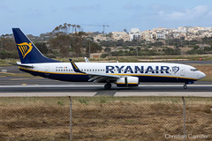 Ryanair Boeing 737-8AS 'EI-ENH' LMML - 16.05.2019 (Chris_Camille) Tags: runway pilot pilotstories aviation avgeek canon canonphotography canonaviation withcanonyoucan clouds airline maltese islands canon5d aviationgeek mla airport takeoff fly sky plane aircraft airplane maltairport spotting planespotting registrations spottinglog people photoadd ryanair lowcost boeing 737 7378as