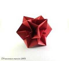 Tweak 12 (mancinerie) Tags: origami paperfolding papiroflexia papierfalten francescomancini mancinerie polyhedra kusudama cube modularorigami paper geometry