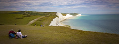 Stunning panoramic view (Steve M Photography) Tags: sevensisters eastsussex coastline shore whitecliffs chalk countryside englishcountryside landscape ocean view scenery nationaltrust nationalpark tourism