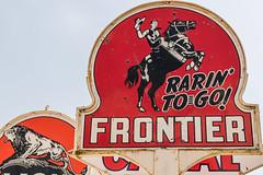 Rarin' to go! (sniggie) Tags: frontier rarintogo gasdealership gasoline servicestation sign signage vintagesign