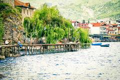 Boats by the boardwalk (tagois) Tags: охрид ohrid northmacedonia lakeohrid охридскоезеро севернамакедонија