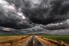 Windy roads (Pásztor András) Tags: road concrete storm stormy clouds sky windy grass blue yellow green colors d5100 dslr nikon andras pasztor photography sigma 1020mm hungary 2019