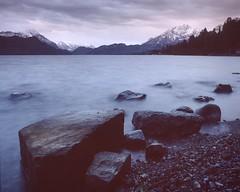 Before the rain (bueti16) Tags: bronicasq switzerland fujiprovia analogphoto longexposure water sunset morning lake