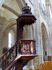 Boiscommun, Loiret: église Notre-Dame, chaire de 1751 (Marie-Hélène Cingal) Tags: france centrevaldeloire baznīca église kirik iglesia church chiesa bažnyčia kirche kostol eliza boiscommun loiret 45