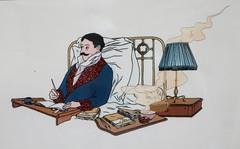 """illustration de Stéphane Heuet pour """"Un amour de Swann"""" de Marcel Proust - exposition à la médiathèque de Chartres (28) (Yvette G.) Tags: marcelproust écrivain 28 eureetloir bandedessinée dessin illustration stéphaneheuet chartres"""