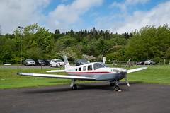G-PURL Saratoga, Glenrothes (wwshack) Tags: egpj fife fifeairport glenrothes glenrothesairport pa32 piper saratoga scotland gpurl