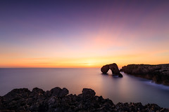 The Arch (One_Penny) Tags: stefanklauke canon6d photography spain asturias colorful sky sun sunlight clouds sunrise morning dawn water sea ocean rocks coast seascape waterfront shore nature landscape arch longexposure longshutterspeed