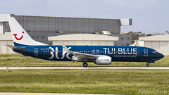 Malta International Airport (Redeemer_Saliba) Tags: tui blue boeing 7378k5 datud takeoff rwy 31 lmml luqa