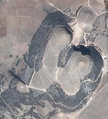 Moray Inca Ruins as seen from Google Maps (Chicago_Tim) Tags: moray muray curcular ruins agriculture terraces circles circular