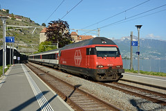 Re 460024-3 + IR 1830, Rivaz, 23 May 2019 (cfl1969) Tags: rivaz re4600243 re460 sbb cff ffs slm